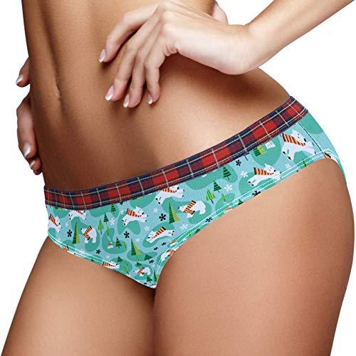 TIZORAX Polar beer en boom vrouwen ondergoed Bikini Fashion dames korte slipje