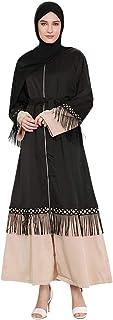 cutemom Muslim Women Dress Long Sleeve fashion retro Tassel lace long dress women's zipper cardigan Kaftan Dresses Traditional Women Abaya Dubai Islamic Robe Clothes