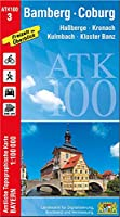 Bamberg-Coburg 1:100 000: Hassberge, Kronach, Kulmbach, Kloster Banz