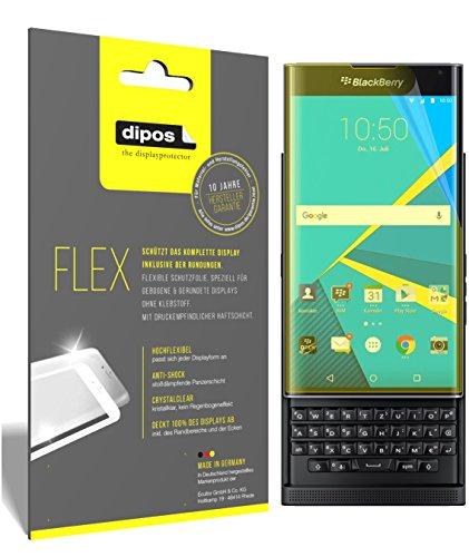 dipos I 3X Schutzfolie 100prozent kompatibel mit BlackBerry Priv Folie (Vollständige Bildschirmabdeckung) Bildschirmschutzfolie