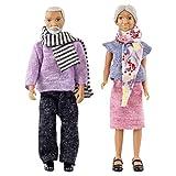 Lundby 60806700 - Puppen für Puppenhaus - Puppenhaus-Zubehör - 2-teilig - Oma und Opa - Familie -...