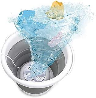 Mini lavadora, tina de lavandería plegable portátil, lavadora de turbina ultrasónica con USB, lavadora de ropa de bebé par...