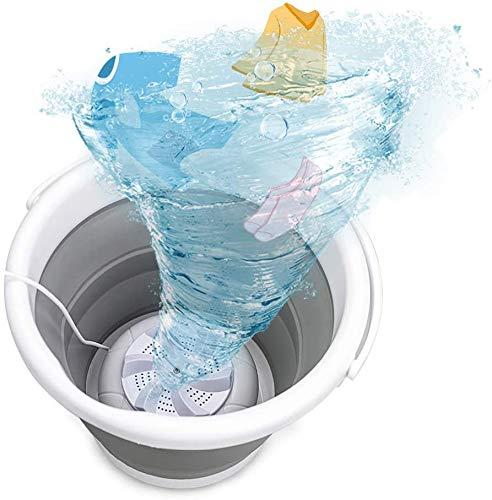 Mini lavadora, tina de lavandería plegable portátil, lavadora de turbina ultrasónica con USB, lavadora de ropa de bebé para viajes en casa, apartamentos, dormitorios, calcetines, ropa interior