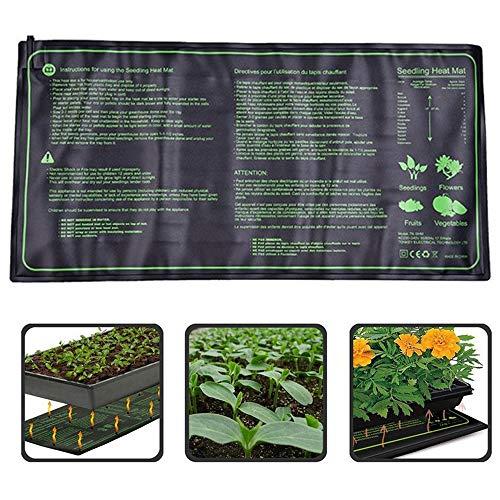RBTT Almohadilla eléctrica Planta de plántulas Heat Mat Multi-tamaño Impermeable y Duradera Flores Mat Caliente Invernadero Equipos Thermonics germinación,L