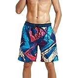 Meerway Costume da Bagno Shorts Calzoncini con Tasche Spiaggia Pantaloncini Corti da Uomo ...