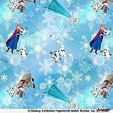 Loopomio Jersey Stoffe Frozen Anna, Olaf, Sven und ELSA