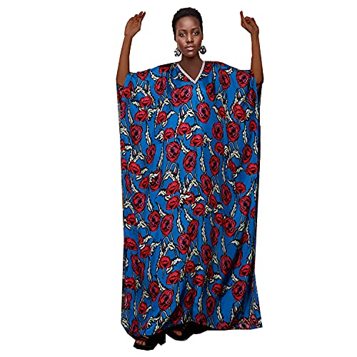 silk kaftan Blue Beach Cover Ups Plus Size Silk Caftans Maxi Dress Fancy Dresses Floral Print Silk Caftan Beach Wear Kaftan