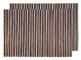2 PZ di tovagliette americane in bambù (145098 nero marrone), set da tavola in stecche di bamboo di alta qualità, Misure circa 45 x 30 cm, per decorazione molto elegante e durevole tavolo cucina