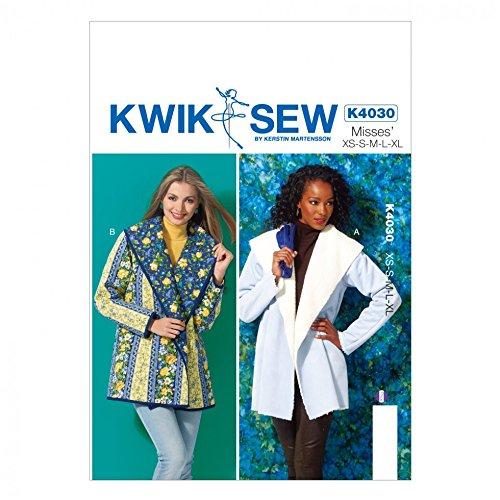 Kwik Sew Damen Schnittmuster 4030Schalkragen eng Jacken + Gratis Minerva Crafts Craft Guide
