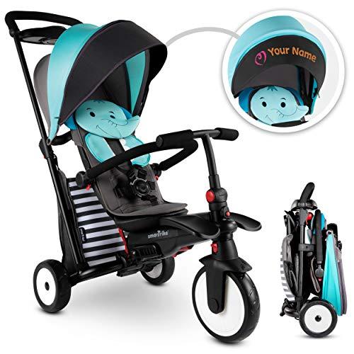 SMARTRIKE STR5 Tricycle Pliable Bébés pour 1,2,3 Ans avec Broderie Personnalisée Gratuite - Tricycle 7 en 1 à Plusieurs Étapes (Bleu)