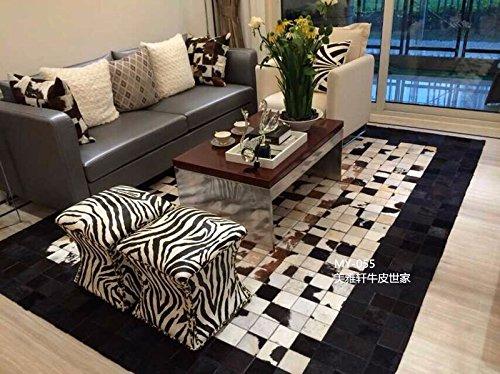 GRENSS 100% Natural auténtico Cuero de Vaca alfombras para el salón 140cm*200cm