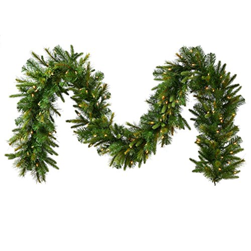 Vickerman 9' x 14' Pre-Lit Mixed Pine Cashmere Artificial Christmas Garland - Clear Lights