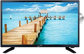 """SuperSonic SC-2412H LED Widescreen HDTV 24"""", Built-in DVD Player with HDMI, USB, SD & AC/DC Input: DVD/CD/CDR High Resolution and Digital Noise Reduction"""