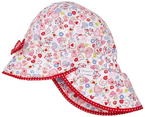 Sterntaler Baby-Mädchen Hut m. Nackenschutz Mütze, Rot (paprikarot 806), 45 cm