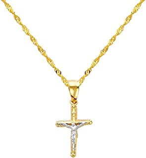 Best 14k gold jesus cross pendant Reviews