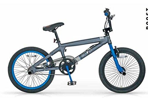 MBM BMX Boost, Bici da Freestyle Unisex Bambini, Blu A03, 20'