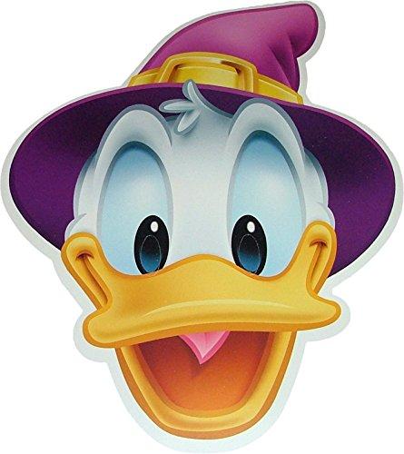 Halloween Donald Duck de Disney -Masques de Costume Wizard fabriqués à partir d'une Carte Rigide - Produit Disney Officiel