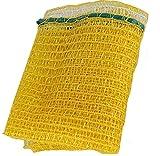 Vrysac - saco de malla raschel amarillo, con cerrador, para 5 kg de limones, naranjas, cebollas, etc. 3-4 kg de nueces. Baleares y canarias consultar antes. (100)