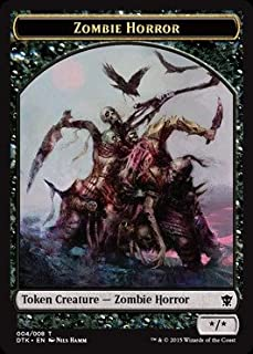 Magic: the Gathering - Zombie Horror Token (004/008) - Dragons of Tarkir