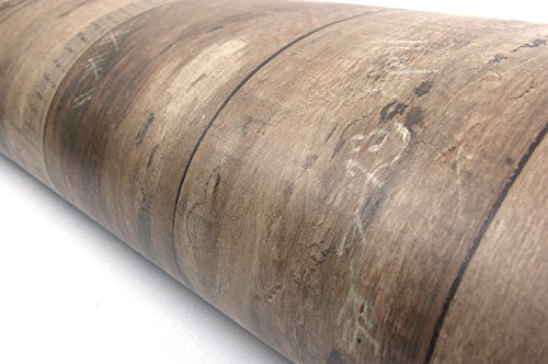 Wood Panel Contact Paper Film Vinyl Self Adhesive Peel-Stick Removable (Brown VL7707)