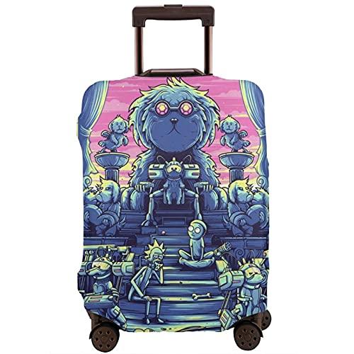 Funda protectora de maleta Rick Morty lavable con diseño de impresión 3D 4 tamaños para la mayoría de equipaje bolsa protectora cremallera