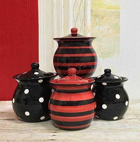 red and black cookie jar - 2