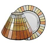 YANKEE CANDLE Bougie parfumée Nuit d'été Chaud mosaïque Abat-Jour/Set Plateau, en Verre, Multicolor, Taille S