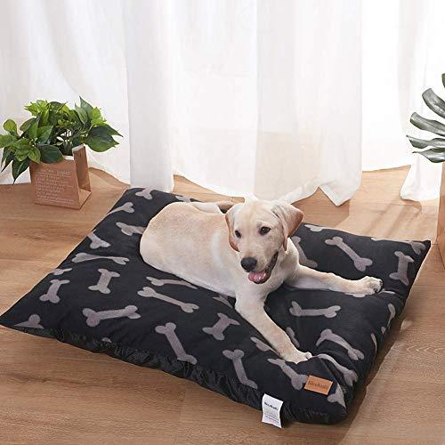 Qazxsw Dog Bed Cushion,Large Pet Dog Mattress,Washable,Non-slip Base,Orthopaedic Dog Calming Bed,Plush Sleeping Basket,Warm Dog Pillow for Large Medium Dog