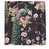 Vogel Duschvorhang Antischimmel Wasserdicht Polyester Stoff Pfau Blumen Badewanne Vorhang mit Haken 150x200cm