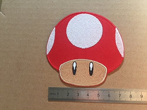 ECUSSON PATCHES AUFNAHER TOPPA - CHAMPIGNON ROUGE MARIO - THERMOCOLLANT