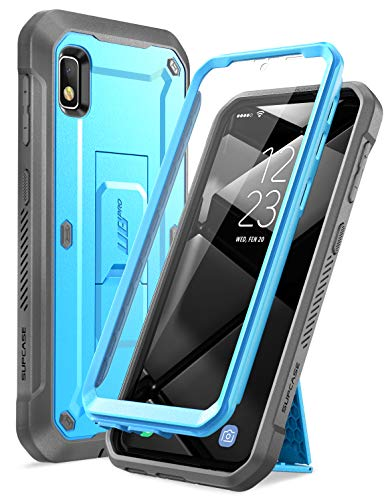 SUPCASE Unicorn Beetle Pro Series Designed for Samsung Galaxy A10e Case(2019 Release), Full-Body Rugged Holster & Kickstand Case with Built-in Screen Protector (Blue)