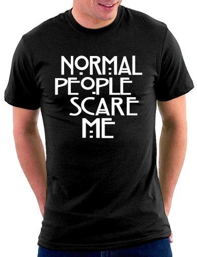 Normal People Scare Me T-shirt, Größe L, Schwarz