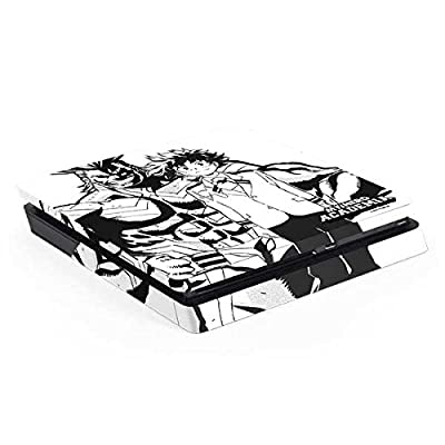 Skinit Decal Gaming Skin for PS4 Slim - Officially Licensed Funimation All Might and Deku Black and White Design