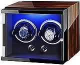 PLMOKN DFJU Caja de gordos de Doble Reloj para Reloj automático con Luces Coloridas Almohadas de Relojes Ajustables Motor silencioso Exquisito/A (Color : Brown, Size : 27 X 19 X 20Cm)