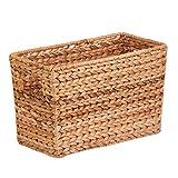 Honey-Can-Do 15x5 Magazine Storage Basket STO-02883 Storage Baskets, Woven Storage Baskets, Decorative Storage Baskets, Small Storage Baskets, Storage Basket with Handle, Desk Storage Baskets