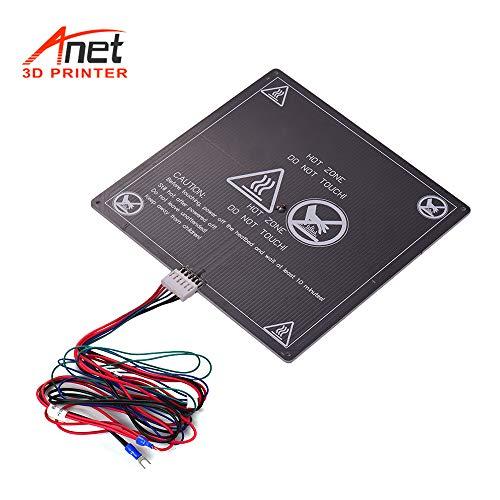 Aibecy Anet 3D Drucker Heizbett Grundplatte Heizung Plattform Warmbett Aluminiumplatte mit Kabel Heißbett Draht für Anet A8 A6 A2 TRONXY P802M 3D Drucker Upgrade Lieferanten 12 V (1 stücke)