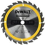 DeWalt Dt1939-Qz Lama Circolare Per Seghe Portatili Edilizia, 184 X 16 Mm, 24 Denti