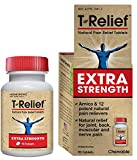 MediNatura T-Relief Extra Strength Homeopathic Plant Powered Pain Relief with Arnica - 13 Natural...