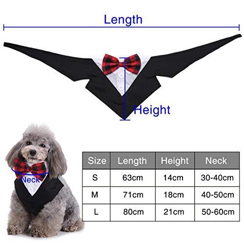 fafagogo2216gogo Hundeleine Gentleman Britischen Stil Fliege Einstellbare Hundehalsband Pflege Für Katze Hündchen Hochzeit Kleidung Bowtie Haustier Ornament D40, L