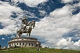 PQGHJ Estatua Ecuestre de Genghis Khan Puzzle para Adultos 1000 Piezas de Madera para niños Juguetes educativos Descompresión Creativa Paisaje Divertido Rompecabezas de Anime
