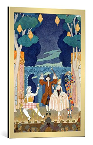 Kunst für Alle Cuadro con Marco: Georges Barbier Pantomime Stage Illustration for...