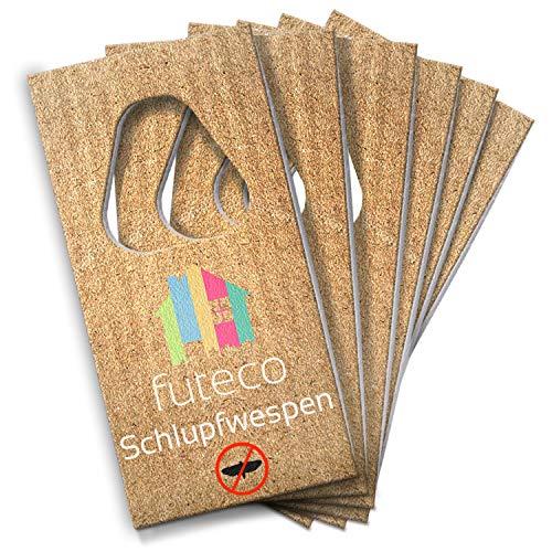 Futeco® – Schlupfwespen gegen Lebensmittelmotten (6 Karten – 3 Lieferungen) – 100% umweltfreundlich – Perfekter Lieferrhythmus – Made in Germany