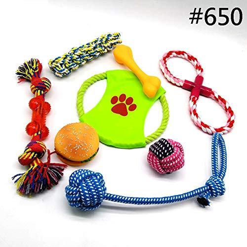 XDYFF Hundespielzeug Baumwolle Leinen Ökologisches Spielzeug Interaktives Kauen Knoten Spielzeug Baumwolle Spielzeug Zahngesundheit Zahnreinigung für Hunde Durable Kauen Spielzeug Zahn Aids,8SET