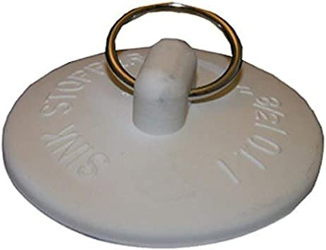 white fits 1.5 inch to 2 inch  drains Tub stopper