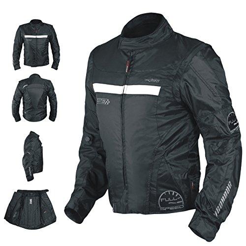 A-Pro Oxford Jacke Herren Textil CE Protektoren Thermoweste Motorrad Schwarz S