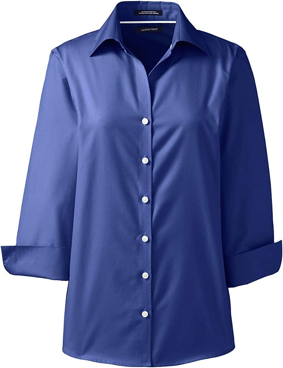 Lands' Spasm price End Women's 3 4 Broadcloth Spring new work one after another Shirt Sleeve No Iron