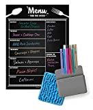 Jot & Mark Weekly Menu Planning Magnet Kit | Kitchen Meal Planner and Grocery List Notepad with 10 Bright Color Dry Erase Markers, Cleaning Cloth, and Magnetic Holder for Refrigerator