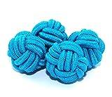 Gemelolandia | Gemelos Borla Bola Azul Cielo Gemelos Originales Para Camisas | Para Hombres y Niños | Regalos Para Bodas, Comuniones, Bautizos y Otros Eventos