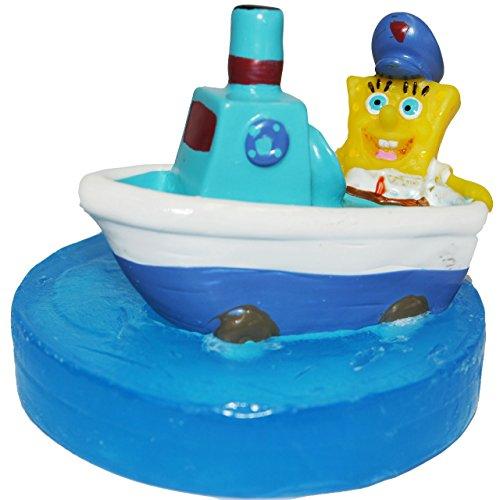 alles-meine.de GmbH Schwimmseife mit Figur Spongebob Schiff Boot Fähre Seife Hygiene Kinder Bad