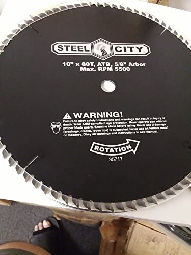Steel City 10 in. x 80 5% OFF Tipped Carbide Tooth Saw 67% OFF of fixed price Cut-Off Blade